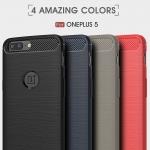 เคส Oneplus 5 Carbon Fiber Brushed TPU (เจาะโชว์โลโก้)