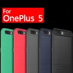เคส OnePlus 5 Carbon Fiber Brushed Hard TPU