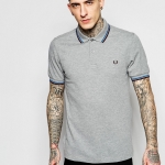Twin tipped shirt Col : steel marl