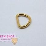 ห่วงเหล็กตัวD สีทอง ขนาด 2.5 cm