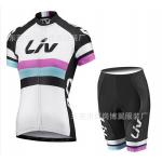 ชุดปั่นจักรยานผู้หญิง LIV White ขนาด S