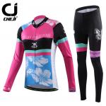 ชุดปั่นจักรยานผู้หญิง Cheji Black-Pink ขนาด S