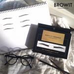 Browit by nongchat โครงสติ๊กเกอร์เขียนคิ้ว โดยน้องฉัตร วาดคิ้วง่ายๆ เพียงไม่กี่นาที ได้คิ้วสวยเหมือนมีน้องฉัตรไปวาดให้เลย(12 คู่)
