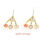 สีทอง เพชรชมพู ดอกไม้สีส้ม