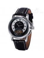 นาฬิกาข้อมือผู้ชายออโตเมติก KS Luxury Automatic Toubillion สายหนังPU