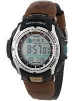 นาฬิกาข้อมือคาสิโอ นาฬิกาแบบสปอร์ตเอาท์ดอร์ Casio Pathfinder PAS400B-5V Fishing timer Moon phase digital สายข้อมือผ้าไนล่อนเกรดเอ