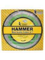 ใบตัดเพชรแห้ง ขนาด 7 นิ้ว (สีเขียว) HAMMER