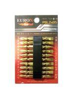 ดอกไขควงเข็มขัด 2x65 (สีทอง, แพ็ค 10 ดอก) EUROX