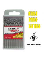 EUROX ดอกสว่านเจาะสแตนเลส 1/8 (3.175 mm) PACK 10 ดอก