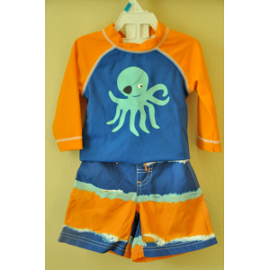 Gymboree Rashguard and swim trunk set size 6-12 months