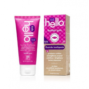 Hello Oral Care Kids Fluoride Toothpaste, Bubble Gum