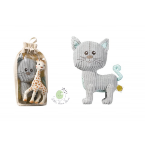 ของเล่น Lazare the cat + Sophie la Girafe