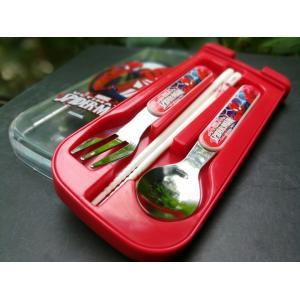 Cutlery Set (Fork, Spoon, Chopsticks) Spiderman
