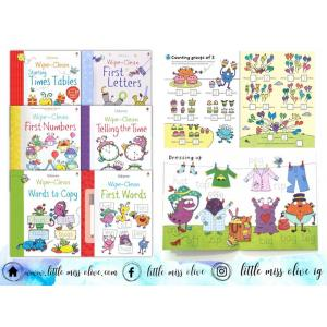 Wipe-Clean Activity Books (6 books)