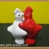 กระปุกพริกไทยเซรามิกไก่กอดกันเล็ก