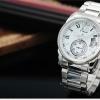 นาฬิกาข้อมือผู้ชายออโตเมติกKS Luxury Automatic Watch KS065 Imperial White สายแสตนเลส พร้อมช่องแสดงวันที่