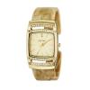 นาฬิกาผู้หญิงCaravelle New York by Bulova เรือนสี่เหลี่ยม ตัวเรือนสีทอง ฝังคริสตัล Swarovski สายข้อมือแบบกำไล
