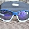 แว่นตาปั่นจักรยาน Oakley Jawbone น้ำเงิน-ขาว