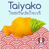 I154 สกุชชี่ green_taiyaki by chawa ปลาไทยากิสีเขียว ขนาด 20cm (super soft)