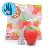 I115 สกุชชี่ Mini strawberry I-bloomสีแดง ขนาด 6cmลิขสิทธิ์แท้ ญี่ปุ่น