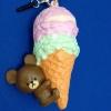 C771 สกุชชี่ School Bear Icecram ลิขสิทธิ์แท้ ญี่ปุ่น ( SOFT) ขนาด 9 cm กลิ่นขนม