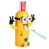 Z062 ที่กดยาสีฟัน Minion Toothpaste Dispenser เวอร์ชั่น TOM เป็นที่กดยาสีฟันระบบสูญากาศ พร้อมที่แขวนแปรง และ แก้วน้ำ