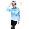 ชุดปั่นจักรยานผู้หญิง สีฟ้า ชุดยาว