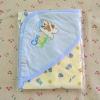 ผ้าห่อตัวเด็กอ่อน ขนาด 28x28 นิ้ว Cotton 100% - สีฟ้า