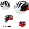หมวกกันน๊อค จักรยาน Cigna มีแว่นในตัว เปลี่ยนเลนส์ได้ สีขาวดำแดง