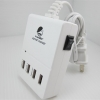 Smart USB 4Port ปลั๊ก USB สำหรับสมาร์ทโฟนและแท็บเล็ตทุกรุ่น 2.1A