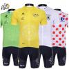 ชุดปั่นจักรยานแขนสั้นทีม Tour De Fance เสื้อปั่นจักรยาน กับ กางเกงปั่นจักรยาน