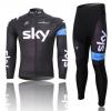 ชุดปั่นจักรยาน แขนยาว ทีม Sky ขนาด S พร้อมส่งทันที รวม EMS