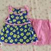 ไซส์ 3-6 เดือน ชุดเสื้อผ้าเด็กผู้หญิง ลายดอกไม้เหลือง