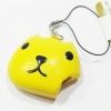 CA227 สกุชชี่ KAPIBANACAN สีเหลือง กดแล้วไส้ไหล squeeze toy (STANDARD) 4 cm