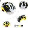 หมวกกันน๊อค จักรยาน Cigna มีแว่นในตัว เปลี่ยนเลนส์ได้ สีขาวดำเหลือง