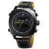 SHARK Watch นาฬิกาข้อมือแฟชั่นผู้ชาย 2 ระบบ สายข้อมือหนัง PU อย่างดี Quartz Digi-Analog เวลา-วัน-วันที่ SH494SI
