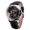 นาฬิกาข้อมือผู้ชายออโตเมติก KS Luxury Automatic Skeleton หน้าปัดแบบฉลุ สายหนังPU