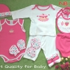 เซทเด็กเล็ก 12 ชิ้น สีชมพู ไซส์ 0-3 เดือน
