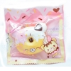 I173 สกุชชี่ Yummiibear Creamiicandy mini donut squishy โดนัทหมี ชมพูขาว ขนาด 6 cm (Super Soft) ลิขสิทธิ์แท้