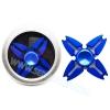 HF130 Hand spinner - GYRO (ไจโร) -Fidget spinner โลหะ เคลือบสี น้ำเงิน 4 แฉก