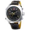 SHARK Watch นาฬิกาข้อมือแฟชั่นผู้ชาย 2 ระบบ สายข้อมือหนัง PU อย่างดี Quartz Digi-Analog เวลา-วัน-วันที่ SH491SI