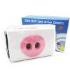 TY079 กล้องทอย Toy Camera โลโม่ 2 เลนท์ สีชมพู-ขาว ไม่ต้องใช้ถ่าน ใช้ฟิล์ม 35mm (ฟิลม์ซื้อแยกต่างหาก)