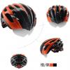 หมวกกันน๊อค จักรยาน Cigna มีแว่นในตัว เปลี่ยนเลนส์ได้ สีส้ม