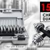 15KG CHROMED DUMBBELL SET ชุดดัมเบลชุบโครเมียม 15 Kg.
