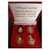 เหรียญมหาจตุรทิศ ไตรมาสเจริญพร ๕๓ พ่อท่านเขียว วัดห้วยเงาะ ชุดของขวัญ ๔ องค์ ๔ เนื้อ
