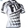 เสื้อปั่นจักรยาน แขนสั้น Fox Black-White