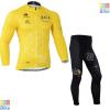 ชุดปั่นจักรยาน เสื้อปั่นจักรยาน และ กางเกงปั่นจักรยาน Tour de France ขนาด M