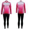 ชุดปั่นจักรยานผู้หญิง สีชมพู ขนาด S ชุดยาว