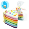 I158 สกุชชี่ Rainbow mini cake เค้ก เรนโบว์ มินิ by chawa ขนาด 5 cm (Super Soft) มีกลิ่น