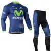 ชุดปั่นจักรยาน แขนยาว Movistar เสื้อปั่นจักรยาน และ กางเกงปั่นจักรยาน